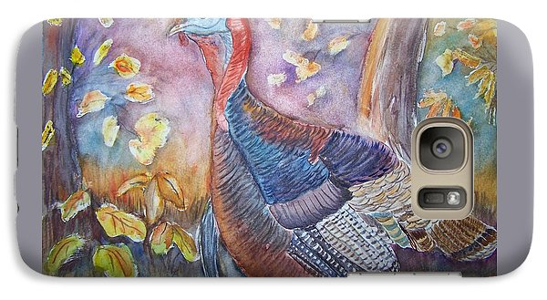 Galaxy Case featuring the painting Wild Turkey In The Brush by Belinda Lawson