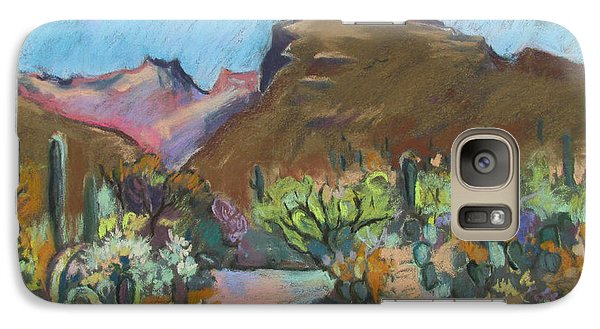 Galaxy Case featuring the painting Wild Tuscon by Linda Novick