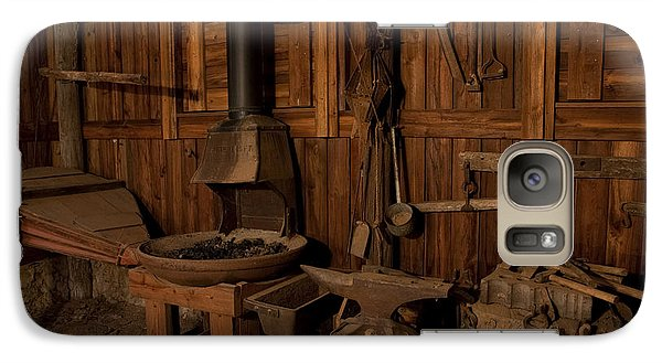 Galaxy Case featuring the photograph Wild West Blacksmith by Keith Kapple