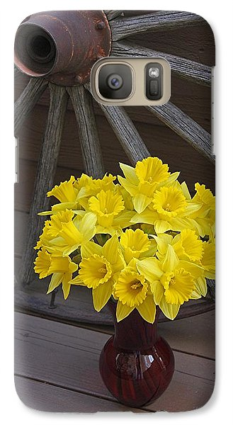 Galaxy Case featuring the photograph Wild West Daffodils by Diane Alexander
