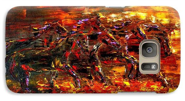Galaxy Case featuring the painting Wild West Wind by Jennifer Godshalk
