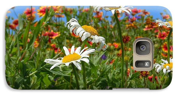 Galaxy Case featuring the photograph Wild White Daisies #1 by Robert ONeil