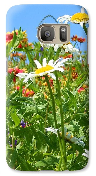 Galaxy Case featuring the photograph Wild White Daisies #2 by Robert ONeil