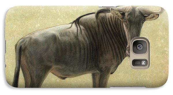 Bull Galaxy S7 Case - Wildebeest by James W Johnson