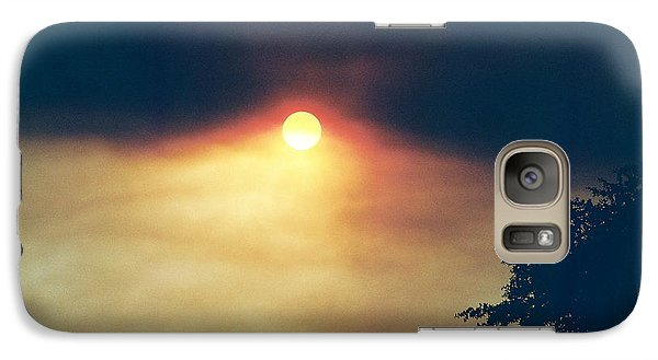 Galaxy Case featuring the photograph Wildfire Smoky Sky by Kerri Mortenson
