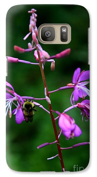 Galaxy Case featuring the photograph Wildflower Bee by Amanda Holmes Tzafrir