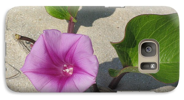 Galaxy Case featuring the photograph Wildflower On The Beach by Jimmie Bartlett