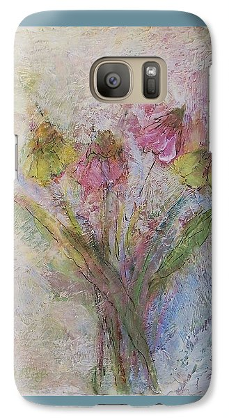 Galaxy Case featuring the painting Wildflowers 2 by Mary Wolf