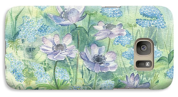 Galaxy Case featuring the painting Wildflowers by Elizabeth Lock