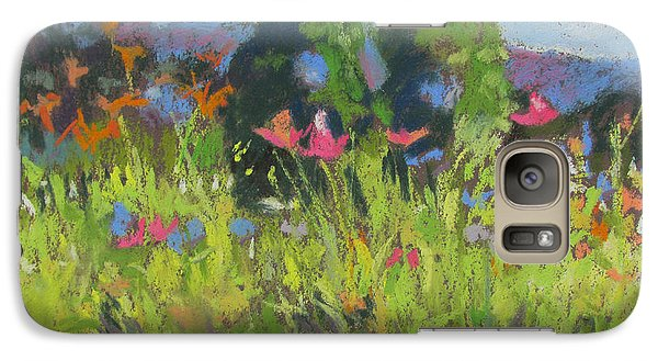 Galaxy Case featuring the painting Wildflowers by Linda Novick