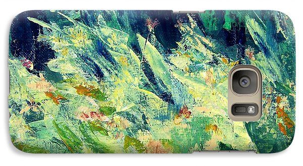 Galaxy Case featuring the painting Wildflowers by Mary Lynne Powers