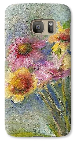 Galaxy Case featuring the painting Wildflowers by Mary Wolf