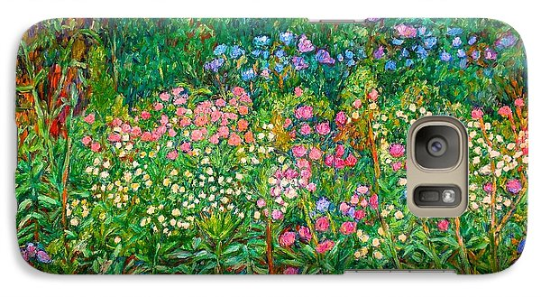 Galaxy Case featuring the painting Wildflowers Near Fancy Gap by Kendall Kessler