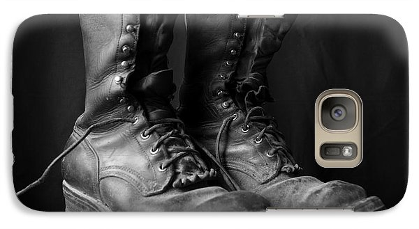 Galaxy Case featuring the photograph Wildland Fire Boots Still Life by Kerri Mortenson