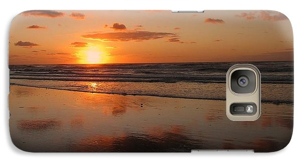 Wildwood Beach Sunrise Galaxy S7 Case by David Dehner