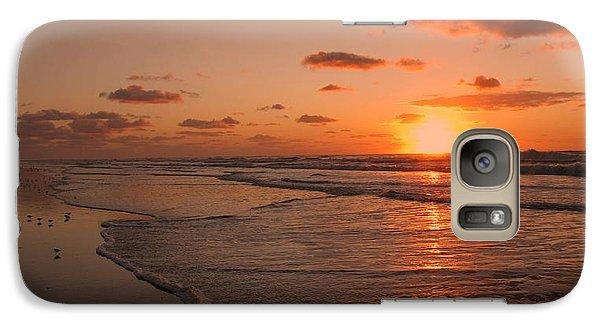 Wildwood Beach Sunrise II Galaxy Case by David Dehner