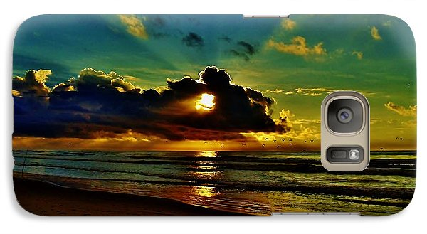 Galaxy Case featuring the photograph Wildwood Sunrise by Ed Sweeney