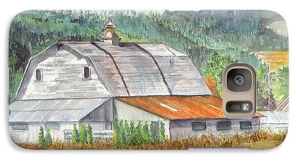 Galaxy Case featuring the painting Willamette Valley Barn by Carol Flagg