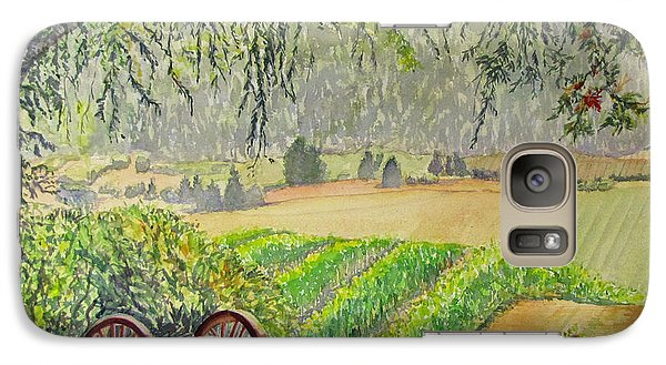 Galaxy Case featuring the painting Willamette Valley Winery by Carol Flagg