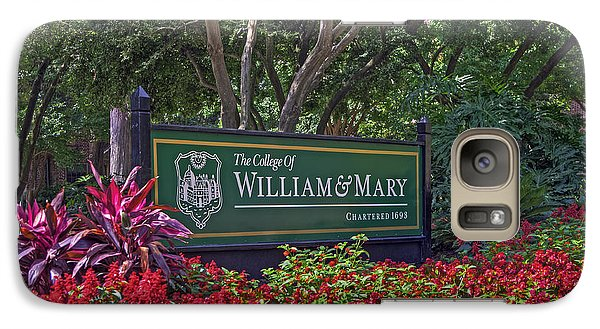 Galaxy Case featuring the photograph William And Mary Welcome Sign by Jerry Gammon