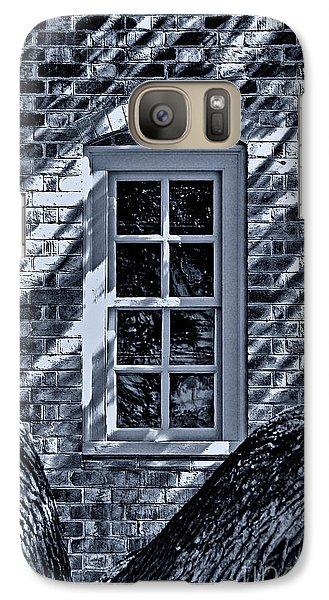 Galaxy Case featuring the photograph Williamsburg Window by Nigel Fletcher-Jones