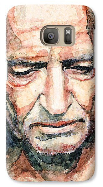 Galaxy Case featuring the painting Willie Nelson  by Laur Iduc