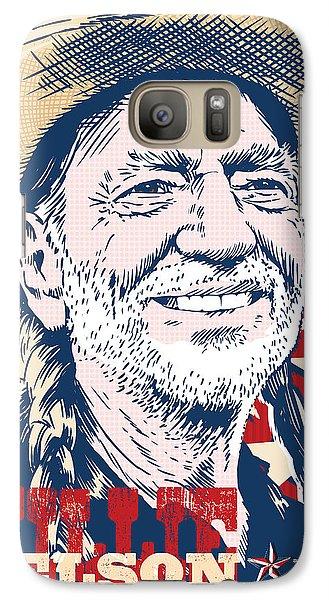Johnny Cash Galaxy S7 Case - Willie Nelson Pop Art by Jim Zahniser