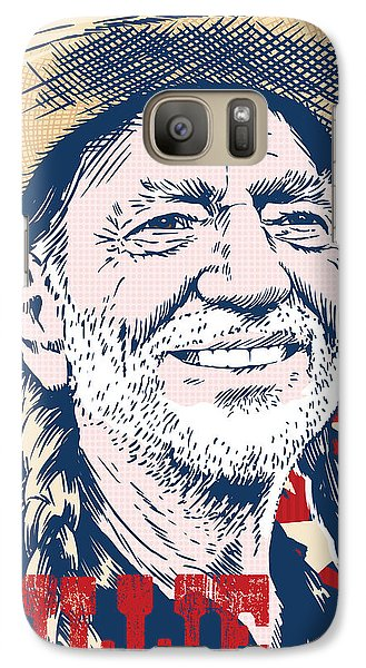 Willie Nelson Pop Art Galaxy S7 Case by Jim Zahniser