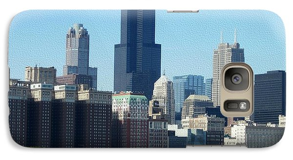 Galaxy Case featuring the photograph Willis Tower by Kathie Chicoine