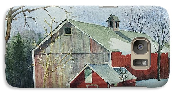 Galaxy Case featuring the painting Williston Barn by Mary Ellen Mueller Legault