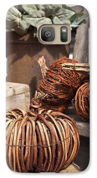 Galaxy Case featuring the photograph Willow Pumpkins by Patrice Zinck