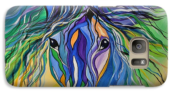 Galaxy Case featuring the painting Willow The War Horse by Janice Rae Pariza