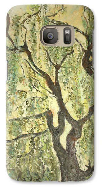 Galaxy Case featuring the painting Willow Tree by Aleezah Selinger