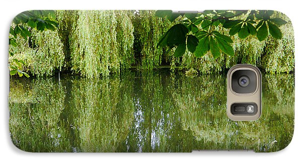 Galaxy Case featuring the photograph Willows Reflected by Winifred Butler
