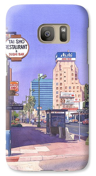 Beverly Hills Galaxy S7 Case - Wilshire Blvd At Mansfield by Mary Helmreich