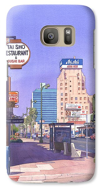 Wilshire Blvd At Mansfield Galaxy S7 Case by Mary Helmreich