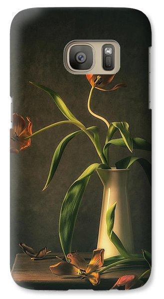 Tulip Galaxy S7 Case - Wilted Tulips by Monique Van Velzen