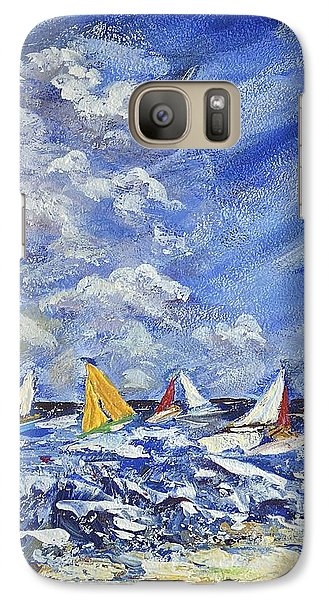 Galaxy Case featuring the painting Wind And Sails by Kathleen Pio