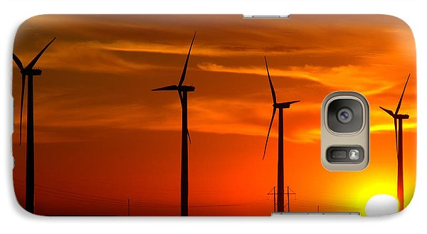 Galaxy Case featuring the photograph Wind And Solar 1 by Jim McCain