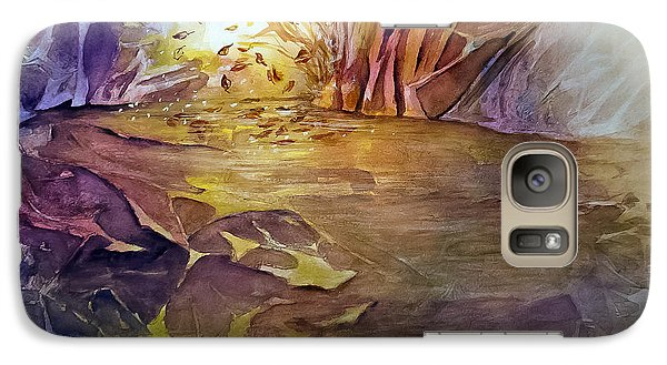 Galaxy Case featuring the painting Wind In Fall by Allison Ashton