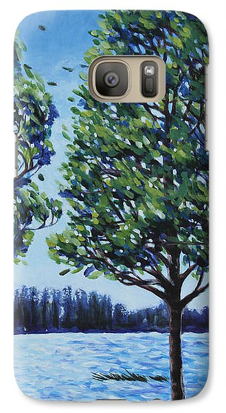 Galaxy Case featuring the painting Wind In The Trees by Penny Birch-Williams