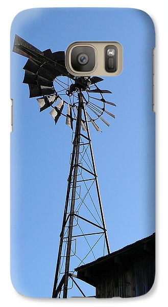Galaxy Case featuring the photograph Wind On The Farm by Jean Goodwin Brooks