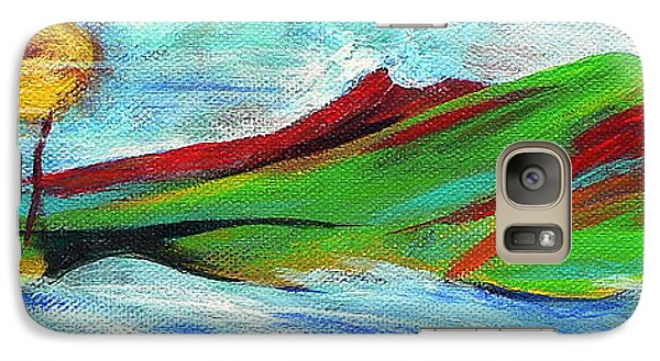 Galaxy Case featuring the painting Windward by Elizabeth Fontaine-Barr