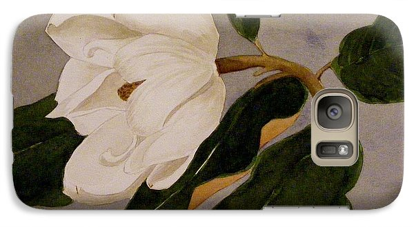 Galaxy Case featuring the painting Windblown Magnolia by Nancy Kane Chapman