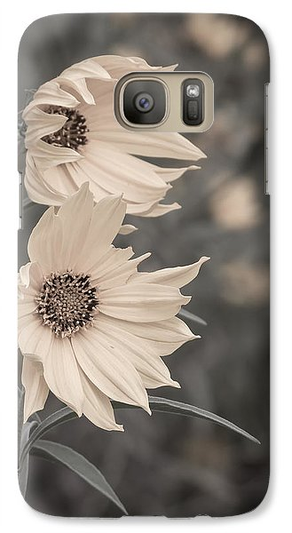 Galaxy Case featuring the photograph Windblown Wild Sunflowers by Patti Deters