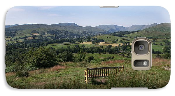 Galaxy Case featuring the photograph Windermere Orrest Head Viewpoint by Graham Hawcroft pixsellpix