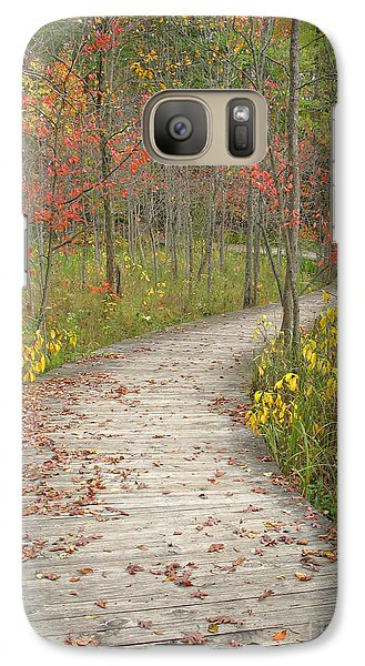 Galaxy Case featuring the photograph Winding Woods Walk by Ann Horn