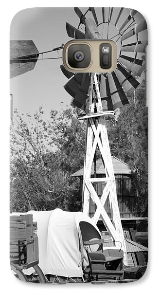 Galaxy Case featuring the photograph Windmill And Wagon by Ivete Basso Photography