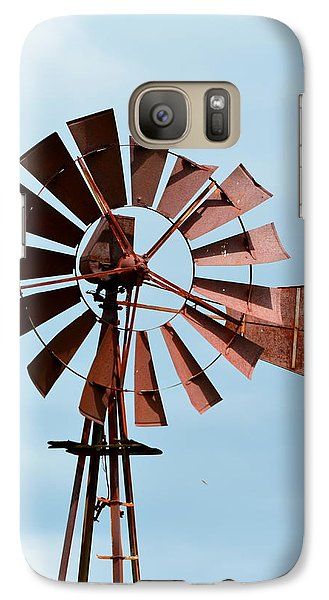 Galaxy Case featuring the photograph Windmill by Cathy Shiflett