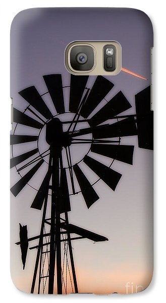 Galaxy Case featuring the photograph Windmill Close-up by Jim McCain